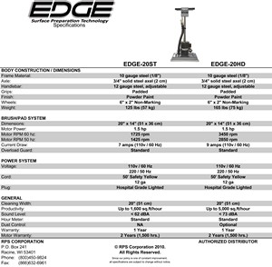 Tomcat EDGE&reg; Stick Machine - HD & ST Tech Specs <br>(37 KB)